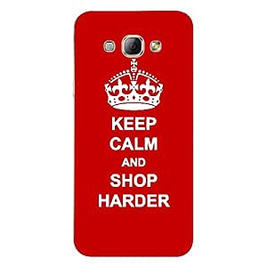 Skin4gadgets Keep Calm and SHOP HARDER - Colour - Red Phone Skin for SAMSUNG GALAXY A8
