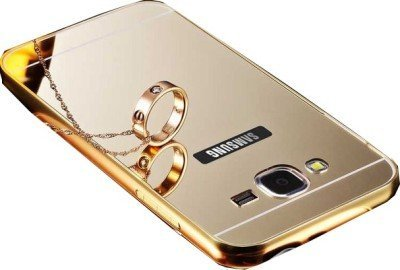 buy online 2fe45 4d0b3 Johra Acrylic Mirror Back Cover Case with Bumper Case for Samsung Galaxy  On7 Pro Mirror Back Cover - Gold Golden
