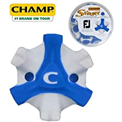 CHAMP Scorpion Stinger Tri-Lok Spikes for FootJoy Golf Shoes, Blue White by Champ