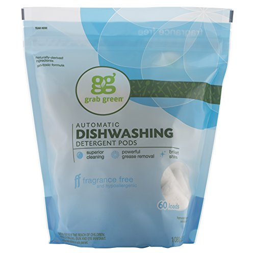 Grab Green Natural Automatic Dishwashing Detergent, Fragrance Free, 60 Loads (Nice Dishwasher Packs compare prices)