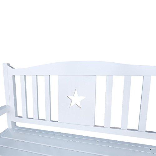 C Living Outdoor Patio Storage Garden Bench Deck Box Indoor Shoe Cabinet Chair (White)