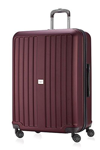 Principale città valigetta XBERG Borgogna con lucchetto TSA Serie opaco 75 cm + borsa piccola cultura