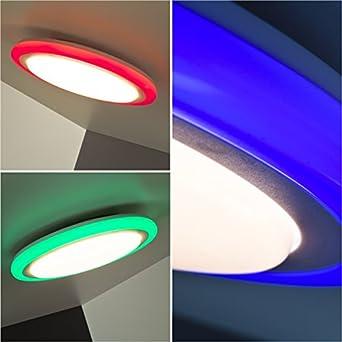 plafonnier led rvb avec t l commande et touches de bord variateur de couleur 30 cm 22 led. Black Bedroom Furniture Sets. Home Design Ideas