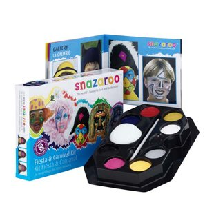Fiesta & Carnival Face Painting Kit Water-Based, Easy-On & Easy-Off and Non-Toxic - 1