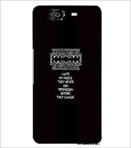 PrintDhaba Quote D-4706 Back Case Cover for MICROMAX A350 CANVAS KNIGHT (Multi-Coloured)