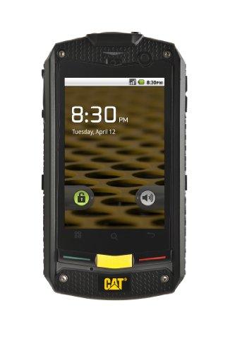 CAT B10 Outdoor Smartphone (8,1 cm (3,2 Zoll) Touchscreen, 5 Megapixel Kamera, Freisprechfunktion, MP3 Player, Android 2.3) schwarz