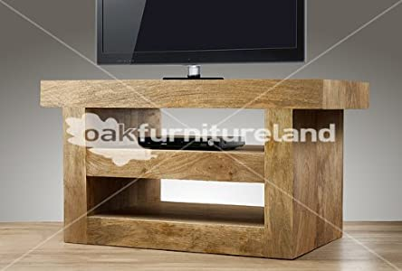 Low cost  Mantis Light Natural Solid Mango TV Cabinet