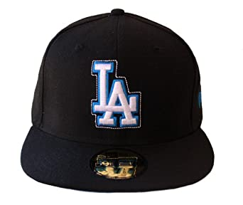 Los Angeles Dodgers DRS 59FIFTY Hat Cap, Black & Teal by New Era