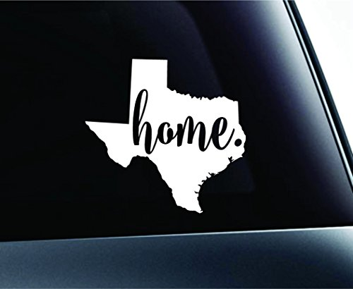 #3 Home Texas State Austin Symbol Sticker Decal Car Truck Window Computer Laptop (White) (Car Company Decals compare prices)