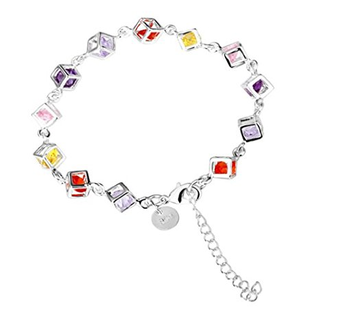 Colorful Women's Solid Silver 925 Bracelet Jewellery