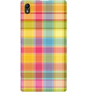 Casotec Colored Stripes Pattern Design Hard Back Case Cover for Sony Xperia Z1 L39H
