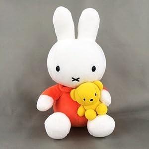 "Amazon.com: Miffy: 8.5"" tall Dick Bruna Miffy plush with a bear doll"