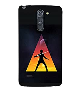 printtech Star Jedi Sword Abstract Back Case Cover for LG G3 Stylus / LG G3 Stylus D690N / LG G3 Stylus D690