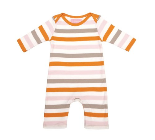 Bob and Blossom Girls Multi Striped 100% Cotton Sleepsuit Romper Playsuit