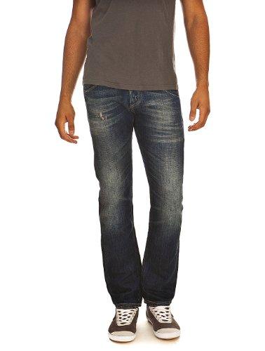 Jeans MP002 Stretch Blue Denim - Broken & Dirty Meltin Pot W38 L34 Men's