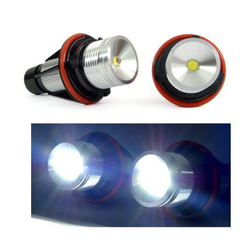 6W 7000K Hid Headlight Led Marker Angel Eye Light Lamp Halo Rings Bulbs For Bmw 04-07 1-Series E87 01-03 5-Series E39 M5 04-07 E60 E61 E63 E64 M6 02-08 7-Series E65 E66 06-07 X3 E83 00-06 X5 E53
