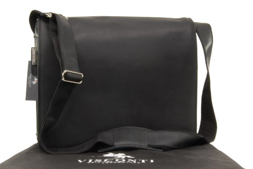 Borsa Messenger Visconti XL A4 Plus Notebook/ipad - Hunter -16054 - Olio Nero