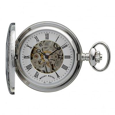 Mount Royal Pocket Watch B7 Chrome Plated Half Hunter