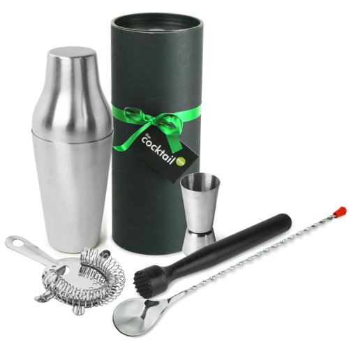 The Cocktail Store French Cocktail Shaker Gift Set | Cocktail Making Set with French Cocktail Shaker, Muddler, Mixing Spoon, Cocktail Strainer & Jigger Measure