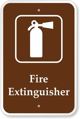 """Fire Extinguisher (With Graphic) Sign, 18"""" X 12"""""""