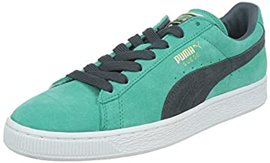 Puma Suede Classic +, Unisex-Adults' High-Top Trainers, Pool Green/Turbulence , 3.5 UK