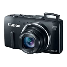 Canon PowerShot SX280 12 MP 20x Zoom Digital Camera - Black