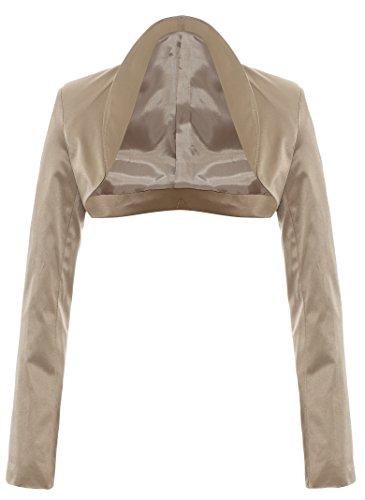 Esclusivo Designer ed elegante a maniche lunghe in raso Bolero giacca GIACCHINA in diversi colori