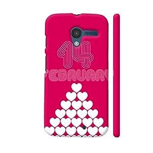 Colorpur 14 February Heart Stack Designer Mobile Phone Case Back Cover For Motorola Moto X1 | Artist: Designer Chennai