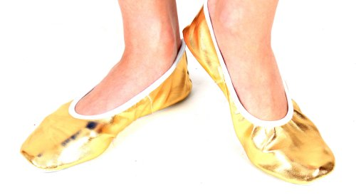 Belly Dance Slippers Shoes Footwear For Belly Dancing Gold Or Silver
