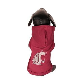 NCAA Washington State Cougars Cotton Lycra Hooded Dog Shirt, X-Small