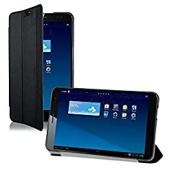 kwmobile Ultra Slim Smart Cover for Huawei MediaPad X1 7.0 in black with convenient stand function