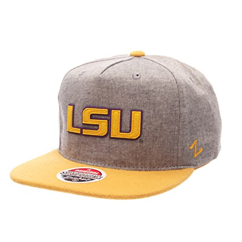 ncaa-lsu-tigers-mens-boulevard-snapback-cap-suit-gold-adjustable