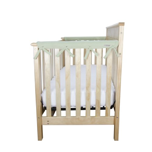 Trend-Lab-Fleece-CribWrap-Rail-Covers-for-Crib-Sides-Set-of-2-Sage-Narrow-for-Crib-Rails-Measuring-up-to-8-Around