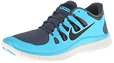 Nike Men's Free 5.0+ Dk Armry Bl/Blk/Gamma Blue/Smmt Wh Running Shoes 8.5 Men US
