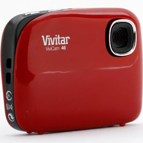 Vivitar V46-RED 4MP Digital Camera with 1.5-Inch LCD Screen - Body Only (Red)