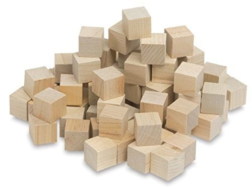 3 4 inch wood cubes natural unfinished craft wood blocks for Unfinished wood pieces for crafts