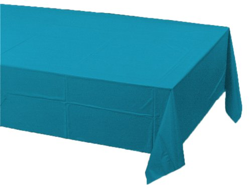 Creative Converting Paper Banquet Table Cover, Turquoise
