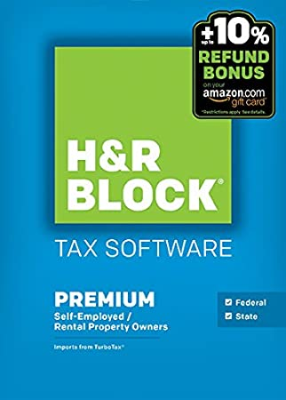 H&R Block 2015 Premium + State Tax Software +  Refund Bonus Offer - Windows Download
