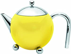 G&H Tea Services Painted Lady 27-OunceTeapot, Sunflower Yellow