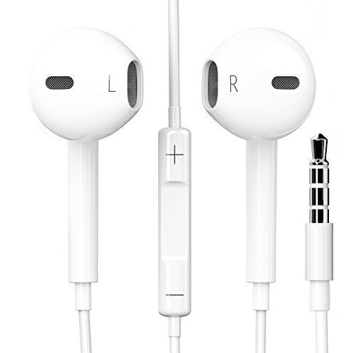 Original Schpeix Earphones in White for iPhone iPad iPod, Samsung, HTC, Sony, LG, In-ear | Headset | Earpods | Stylish Design and High Wearing Comfort Ideal as Sports Headphones