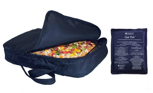"Casserole Carrier and Food Warmer with Large Dual Use Hot Cold Pack - (Holds up to 11""x17"" Casserole) - 1"