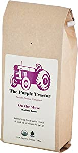 The Purple Tractor USDA Organic & Fair Trade Specialty Medium Roast Coffee - The Worlds Smoothest Blend