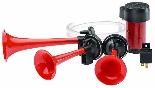 HELLA 003001621 12V 3-Trumpet Air Horn Kit
