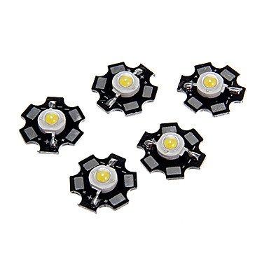 Rayshop - 1W High Power Natural White Color Led Module With Aluminum Pcb (3.0-3.4V,5Pcs)
