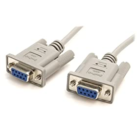 StarTech.com 10-Feet DB9 RS232 Serial Null Modem Cable F/F (SCNM9FF)