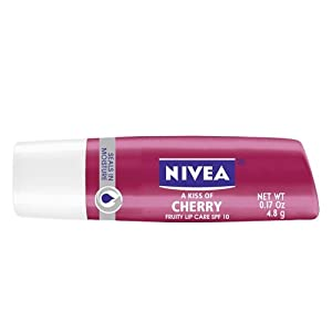 Nivea A Kiss of Cherry Flavored Tinted Lip Care SPF 10 - 0.17Oz Lip Balm (Pack of 6)