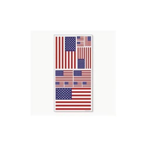 FLAG WINDOW CLINGS (1 SHEET)