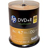 HP DVD+R 4.7GB 16X White Inkjet Printable 100 Pack In Spindle