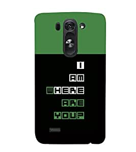 printtech Cool Quotes Back Case Cover for LG G3 Beat::LG G3 Vigor::LG G3s::LG g3s Dual