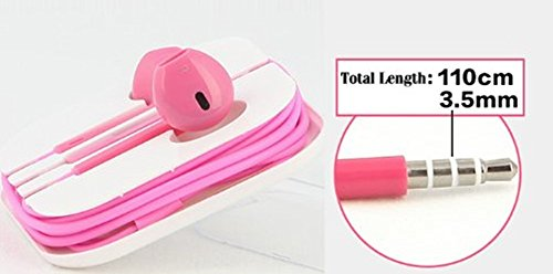 Winstyle(Tm) Earphone In-Ear Headphone With Microphone & Volume Control For I Phone I Pad I Pod High Quality 3.5 Mm Plug For Mp3 Player(Pink)